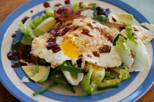 egg and bacon salad