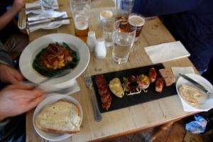 Pork Tasting platter  from their own pigs