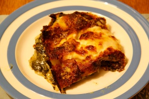 Leftover lasagne