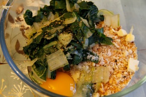 chard fritter ingredients