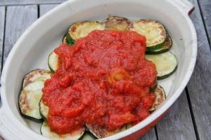 courgette and tomato