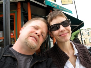Me and James a couple of days after my first mastectomy