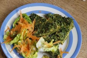 Kuku and salad