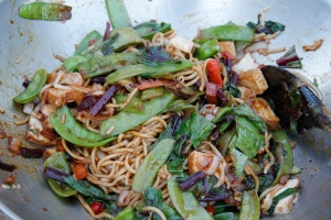 Mee goreng with noodles