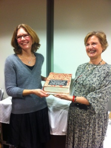Me and Anna with the cake-book