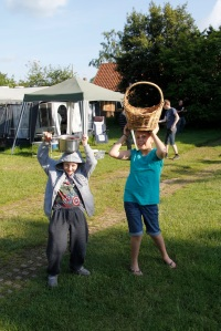 Pots on heads - obviously!