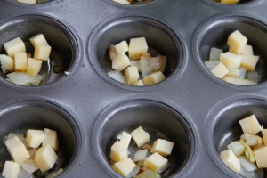 cheese in pans