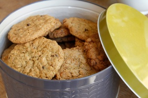 Ginger and oat cookie