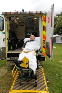 into the ambulance