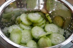 salted cucumber