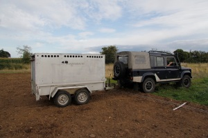 Bringing in the landrover