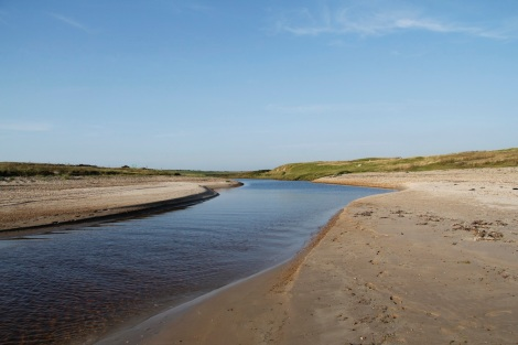 Mouth of the River Laggan at the far north of the beach
