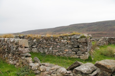 Old walls and buildings
