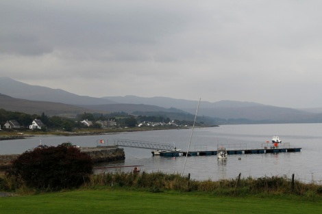 View from Craighouse- Jura hotel garden