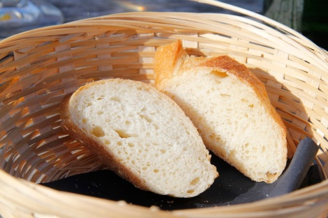 Utterly delicious bread - there was a lot more but we had already eaten it by the time I thought to take a photo!