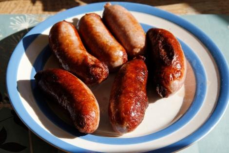 browned sausages