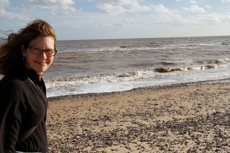 me on Walberswick beach