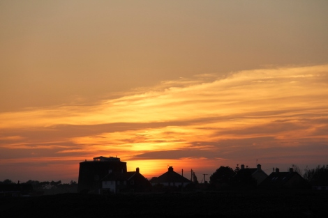 Sunset at Shingle Street