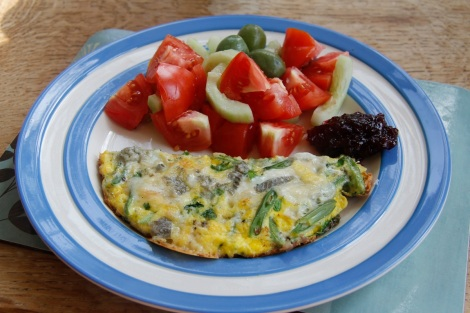greenbean omlette