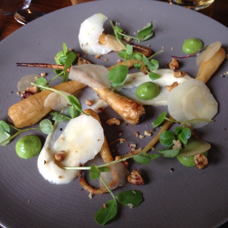 Truffled parsnip and watercress salad