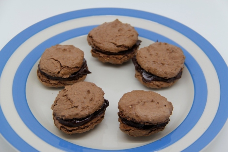 Chocolate walnut macaroons