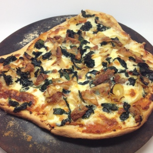 Christmas pizza with guanciale