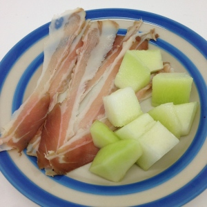 guanciale and melon