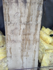 inscribed chimney
