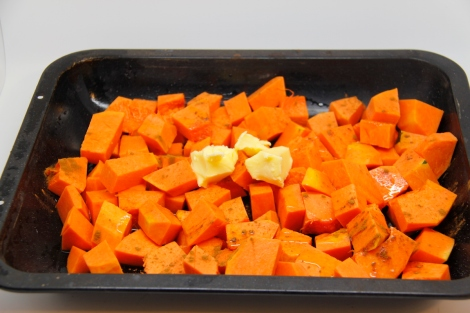 squash in a pan