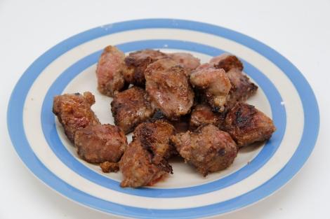 panfried pork cheeks