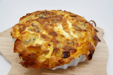beetroot and onion tart