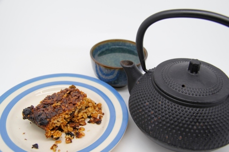 flapjack and tea