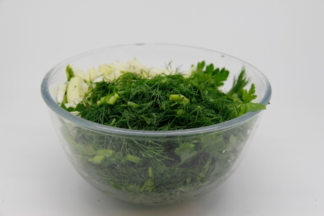 Bowl of herbs