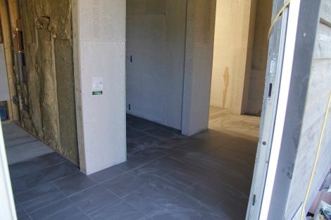 floor tiles and walls