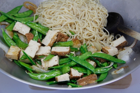 noodles and tofu