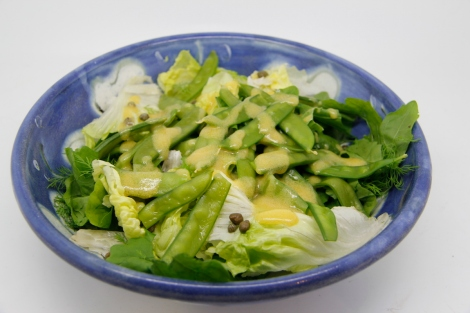 mangetout salad