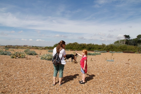 Bawdsey on the beach