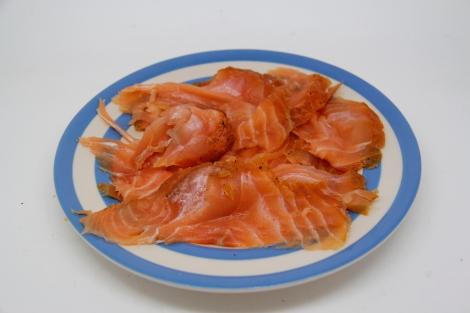 smoked salmon - plate