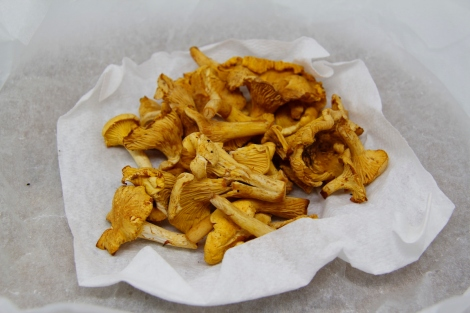 prepared chanterelles