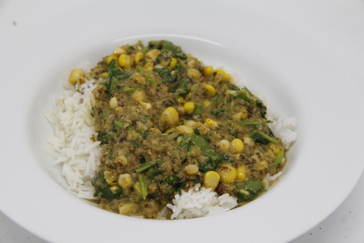 Sweetcorn Thai Green Curry | smallholding dreams