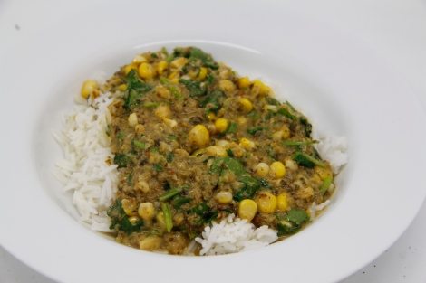 thai green curry -sweetcorn