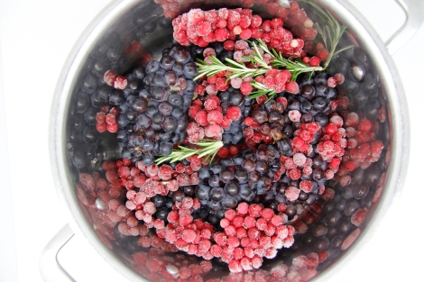 grapes and redcurrants