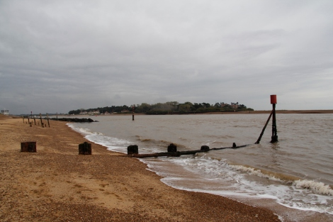 Looking towards Bawdsey Ferry