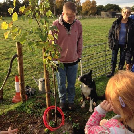 planting tree- James and Kainaat
