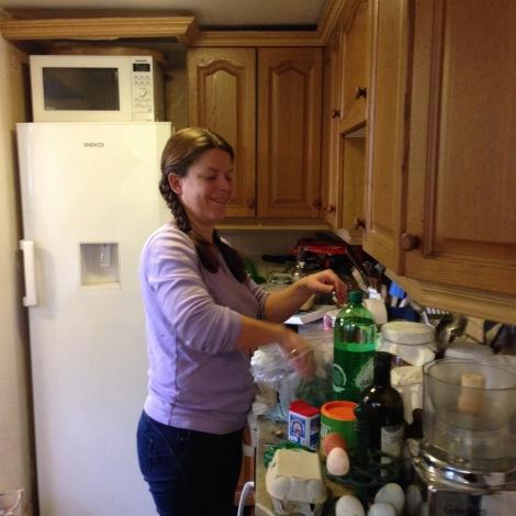 Kerry making soup