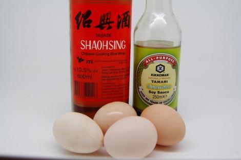 Japanese Omlette ingredients