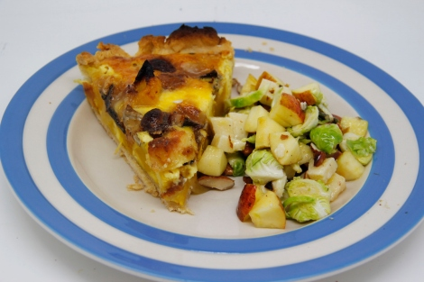 tart and salad