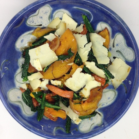 Squash, carrot and kale salad