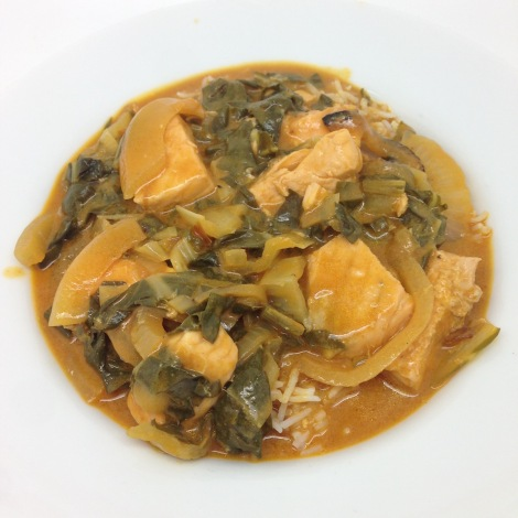 salmon and chard curry