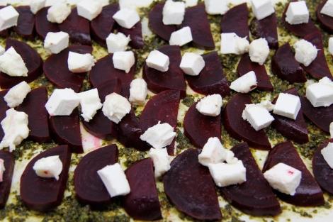 Beetroot tart - uncooked